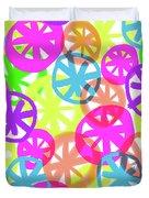 Neon Circles Duvet Cover