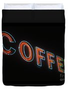 Neon Coffee Duvet Cover