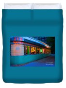 Neon Diner Duvet Cover by Crystal Nederman