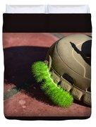 Neon Geen Caterpillar Loves Crocs Duvet Cover