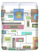 Neon Geometrics 2 Duvet Cover