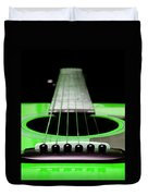 Neon Green Guitar 18 Duvet Cover