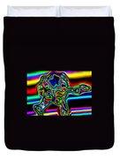 Neon Iris Duvet Cover