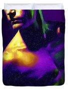 Neon Lights Man Duvet Cover