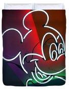 Neon Mickey Duvet Cover