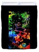Neon Nature  Duvet Cover