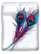 Neon Peacock Duvet Cover