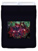 Neon Poinsettias Duvet Cover