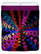 Neon Rave Blur Duvet Cover