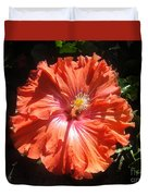 Neon-red Hibiscus 6-17 Duvet Cover