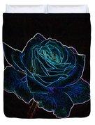 Neon Rose 3 Duvet Cover