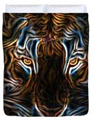 Neon Tigress Duvet Cover