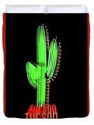Neon Tucson Cactus Duvet Cover