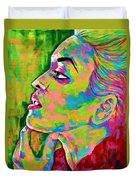 Neon Vibes Painting Duvet Cover