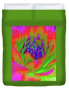 Neon Water Lily 02 - Photopower 3371 Duvet Cover