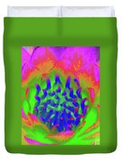 Neon Water Lily 03 - Photopower 3372 Duvet Cover