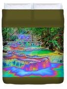 Neon Waterfalls Duvet Cover