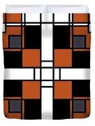 Neoplasticism Symmetrical Pattern In Tijuna Gamboge Duvet Cover