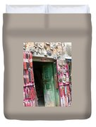 Nepalese Jewelry Shop Duvet Cover