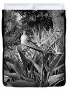 Nepenthe Bird Of Paradise B And W Duvet Cover