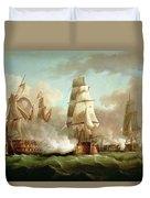 Neptune Engaging Trafalgar Duvet Cover by J Francis Sartorius