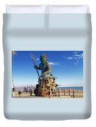 Neptune Virgina Beach  Duvet Cover