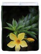 Nerium Oleander In The Rain Duvet Cover
