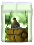 Nesting Doves, Hanging Basket, Balcony Garden, Hunter Hill, May  Duvet Cover
