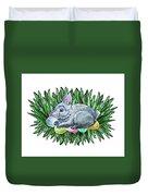 Nesting Easter Bunny Duvet Cover