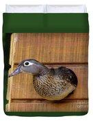 Nesting Hen Wood Duck 1 Duvet Cover