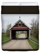 Netcher Road Covered Bridge Duvet Cover
