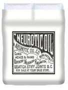 Neurotic Vintage Ad Duvet Cover