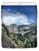 Nevada And Vernal Falls From Near Grizzly Peak - Yosemite Valley Duvet Cover