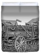 Nevada City Montana Freight Wagon Duvet Cover by Daniel Hagerman