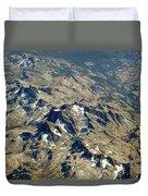 Nevada Mountain Terrain Aerial Lakes Duvet Cover