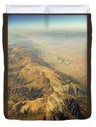 Nevada Mountain Terrain Aerial Duvet Cover