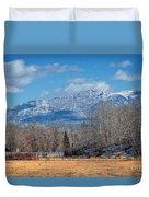 Nevada Ranch In Winter Duvet Cover