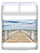 Never Ending Beach Pier Duvet Cover