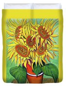 Never Enough Sunflowers Duvet Cover by Andrea Folts