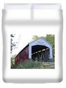 Nevins Covered Bridge Indiana Duvet Cover