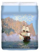 New Albion. Sir Francis Drakes Ship Duvet Cover