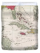 New And Accurate Map Of The West Indies Duvet Cover by American School
