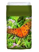 Windows From Heaven Orange Butterfly Duvet Cover