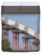 New Bridge Concrete Arc Construction Site Duvet Cover