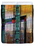 New Building Reflecting Colors Duvet Cover
