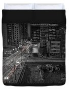 New Buildings On Old Streets Duvet Cover