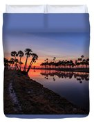 New Day At Econ River Duvet Cover