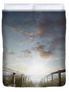 New Day At The Beach Duvet Cover