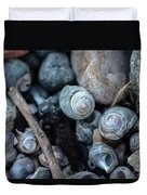 New England Beach Shells Duvet Cover
