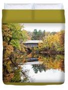 New England Covered Bridge No.63 Duvet Cover